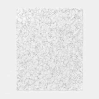 White Marble Texture Fleece Blanket