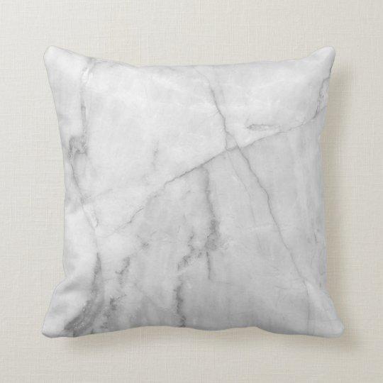 White Marble - Throw Pillow