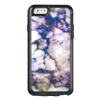 White Marble With Pink And Blue OtterBox iPhone 6/6s Case