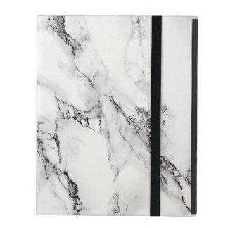 White Marbled Stone iPad Folio Case