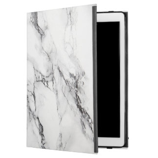 "White Marbled Stone Pattern iPad Pro 12.9"" Case"