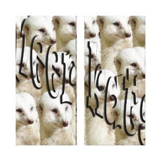 White Meerkat Army, Canvas Print