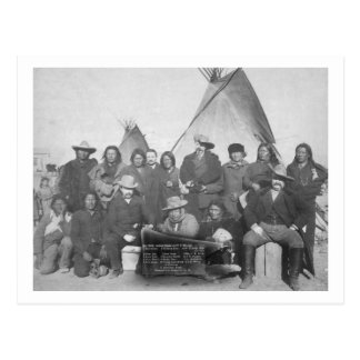 White Men (including Buffalo Bill) and Lakota 2 Postcard