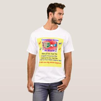 White men's T-Shirt Computer Virus Funny