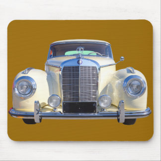 White Mercedes Benz 300 Luxury Car Mousepad