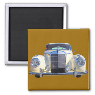 White Mercedes Benz 300 Luxury Car Square Magnet