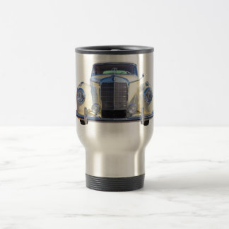 White Mercedes Benz 300 Luxury Car Stainless Steel Travel Mug