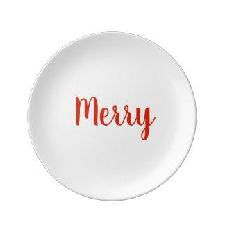White Merry Plates
