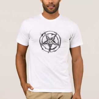 White Messy Baphomet T-Shirt