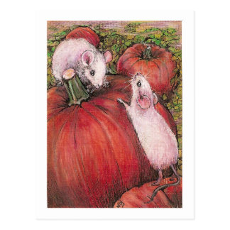 White Mice Postcard