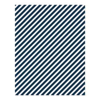 White & Midnight Blue Candy Cane Christmas Stripes Flyer Design