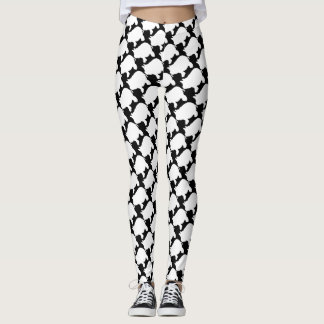 White Mini pig All Over Print Leggings