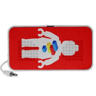 White Minifig with Brick Logo Travel Speakers