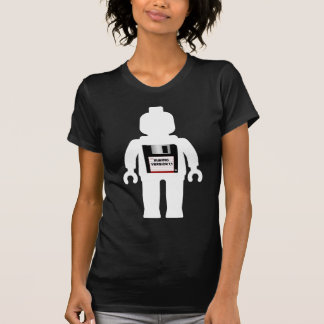 """White Minifig with """"MINIFIG VERSION 1.1"""" slogan T-Shirt"""