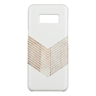 White Minimalist chevron with Wood Case-Mate Samsung Galaxy S8 Case