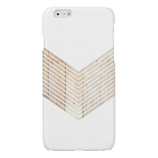 White Minimalist chevron with Wood iPhone 6 Plus Case