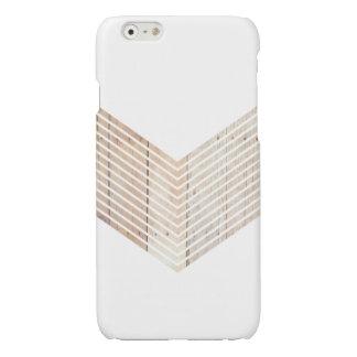 White Minimalist chevron with Wood iPhone 6 Plus Case