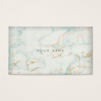 White Mint Green Gold Gray Marble Vip