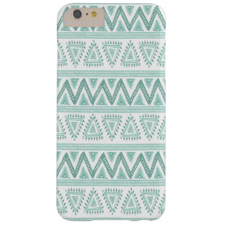 White & Mint-green Tribal Geometric Pattern Barely There iPhone 6 Plus Case