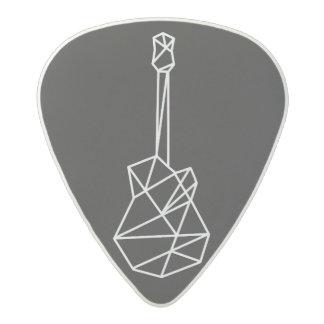 white modern geometric electric-guitar black acetal guitar pick