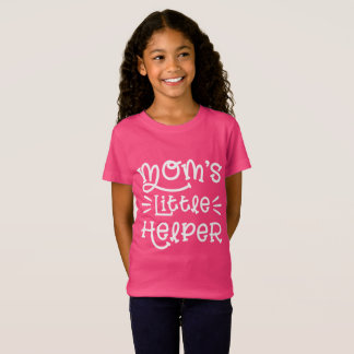 White Mom's Little Helper Cute Hand Lettered T-Shirt