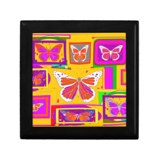 White Monarch Butterflies in Gold by sharles Gift Box