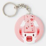 white monster keychains