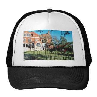 White Moody mansion and museum flowers Mesh Hat