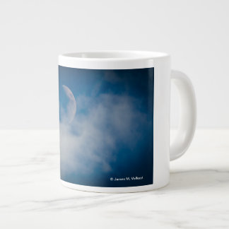 White Moon Blue Sky 1 Jumbo Mugs