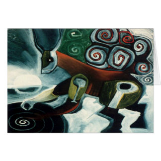 White Moon Shaman by Gregory Gallo Greeting Card