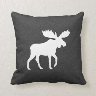 White Moose Silhouette Cushion