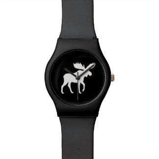 White Moose Silhouette Watch