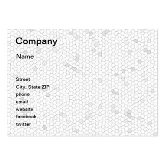 White Mosaic Business Cards