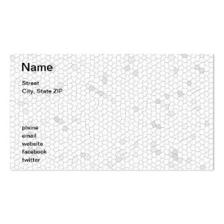 White Mosaic Business Card Template