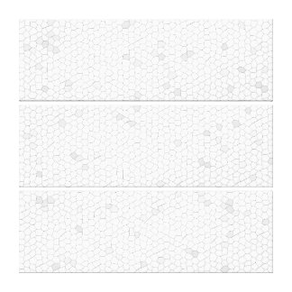 White Mosaic Gallery Wrapped Canvas