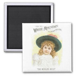 White Mountain Ice Cream Freezer Magnet