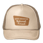 White Mountain National Forest (Sign) Mesh Hats