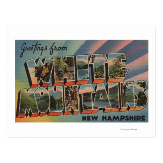 White Mountains, New Hampshire 4 Postcard