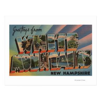 White Mountains, New Hampshire 4 Postcard