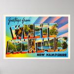White Mountains New Hampshire NH Travel Souvenir Poster