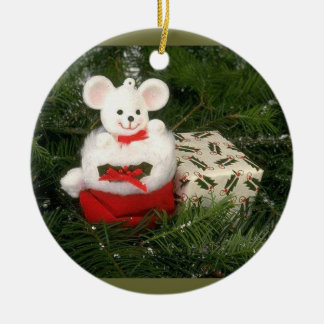 White Mouse Christmas Ornament