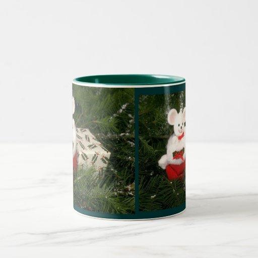 White Mouse Holiday Mug