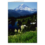 white Mt. Rainier flowers Greeting Card