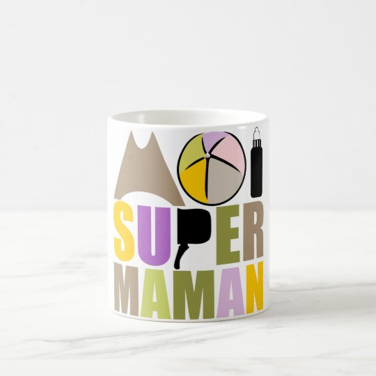 White Mug 325 ml Me Super Mom - Natural Logo