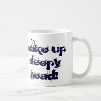 White mug for sleepy head