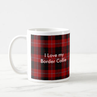 White mug- I Love My Border Collie Coffee Mug