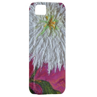 White Mum on Pink Background iPhone 5 Case