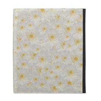 White Mums iPad Case