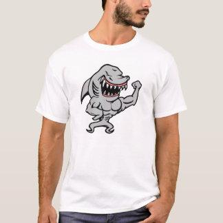 White Muscle Shark T-Shirt