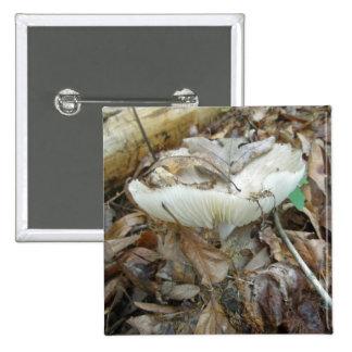White Mushroom Coordinating Items 15 Cm Square Badge